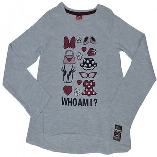 Sonpra Minnie Mouse Kids Girls Printed T-Shirt