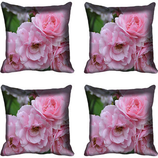 meSleep Flower Digitally Printed Cushion Cover (16x16)