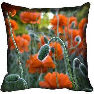 meSleep Flower Digitally Printed Cushion Cover (16x16)