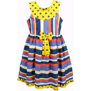 Euphoria Party wear Multi Color stripe Dress