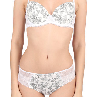 Peches Polyamide White - GreyWomens Hipster Panty
