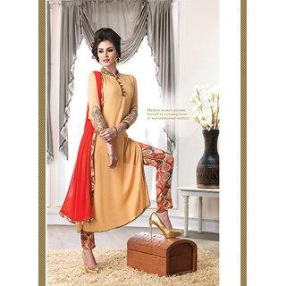 Versatile Brown Georgette Diwali Special Designer Salwar Suit