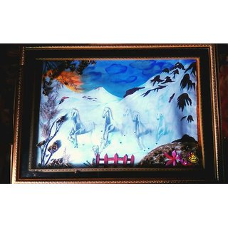 Mountain horse Handmade painting