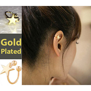 1 Piece New Fashion star heart clip stud earring gift for women girls