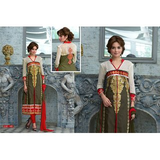 Designer partywear ladies suit (unstitched)