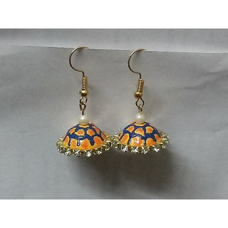Quilling Earrings - Colorful Umbrella