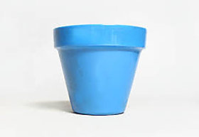 Gina Michele diy mosaic flower pot blue colour