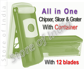 Sushanta  All One Chipser, Slicer And Grater With Container