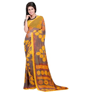 Lookslady Blue Brocade Printed Saree With Blouse