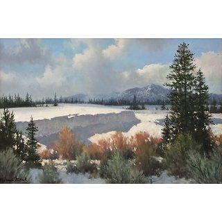 Vitalwalls Landscape Canvas Art Print on Pure Wooden FrameLandscape-619-F-45cm