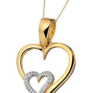 28312d8e93 Buy Kaara Diamond   Gold Heart Valentine Pendant Design-2 Online-  Shopclues.com