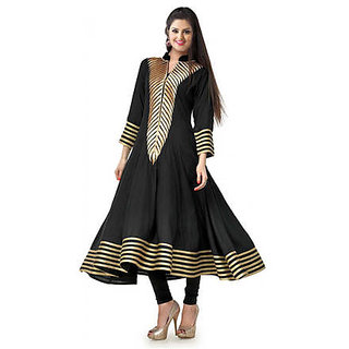 KVC Black 100 Cotton Kurti (Size-XL)