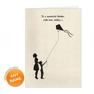 Personalised Silhoutte  Kite Design Card