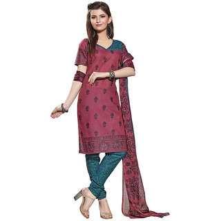 Varanga Multicolor Cotton Batik Print Salwar Suit Dress Material (Unstitched)