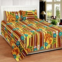 Trendz Cotton Abstract Double Bedsheet WITH 2 PILLOW COVER