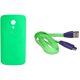 Mobile cover for motorola MOTO G2 back panel cover with data cable free