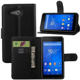Sony Xperia E4g Dual Luxury Wallet PU Leather Case Cover