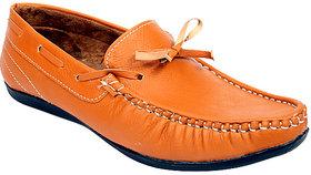Sukun Men Beigh Loafer Shoes