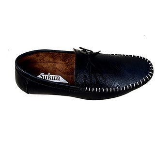 66c0d669fae7d Buy Sukun Mens Black Loafers Online - Get 60% Off