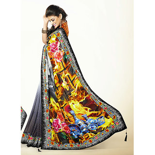 Enticing Multi Colour Party Wear Designer Saree