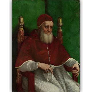 Vitalwalls Portrait of Pope Julius II Canvas Art Print (Figure-017-30cm)