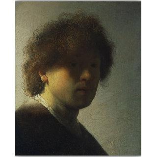 Vitalwalls Portrait Painting Canvas Art Print on Wooden Frame (Figure-033-F-30cm)
