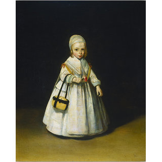Vitalwalls Portrait Painting Canvas Art Print (Figure-035-45cm)
