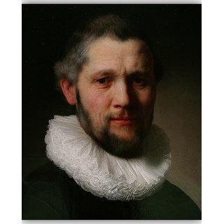 Vitalwalls Portrait Painting Canvas Art Print on Wooden Frame (Figure-036-F-30cm)