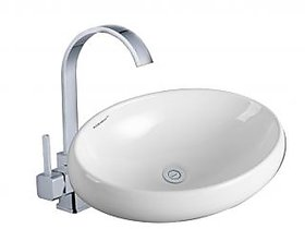 Tonio Sestones Sanitary Ware Art Basin White Size 600x405x155 MM