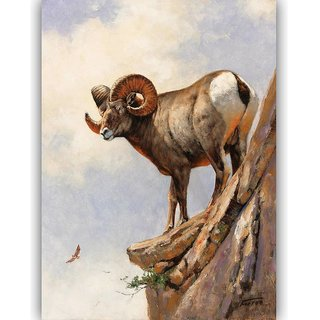Vitalwalls Animal Painting Canvas Art Print