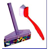 Combo Of Heavy Duty Kitchen Wiper & Kitchen Sink Cleaner Brush