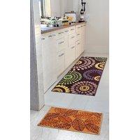 Status Buy 1 Get 1 Taba Bedside Runner And Rectangular Door Mat TABARR2044- Set of 2 - Multicolor