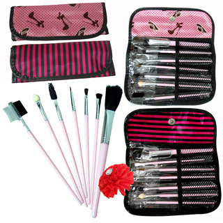 Adbeni Wallet Makeup Brush 7 In 1 Set 01 For All Skin Types (Set of 1)