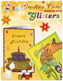 Awals Greeting Card Making With Glitters (Pack Of 4)