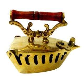 Onlineshoppee Handcrafted Brass Iron as Ashtray and Decor Size LxBxH-4.5x2x4 Inc