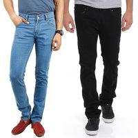 Stylox Men'S Multicolor Regular Fit Jeans (Set Of 2)