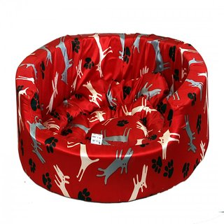 Pet Club51 Standard Dog Bed Medium - red dog
