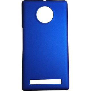 Mobishopclick Rubberized Hard Back Case Cover For Yu Yuphoria YU5010 (Blue)