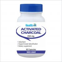 Healthvit Charcoal Activated 250Mg 60 Capsules - 84309973