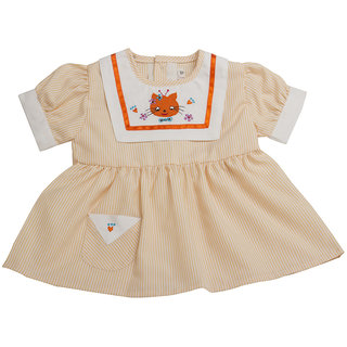 VedVid Soft Fabric Beautiful Trendy Stripes Frock For New Born NBGFS-PC