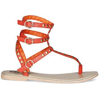 amma orange sandal