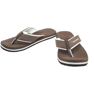 Selfie Brown Colored Slippers For Men
