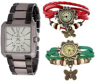 1 Iik Sports + Pack Of 2 VIntage Watch