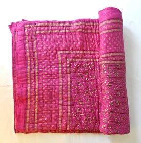 ruchiworld jaipuri razai rajai cotton blanket comforter SINGLE BEDED MYM1007