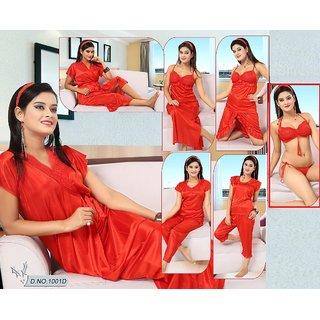 f638107e5d0a2 12pc Night Wear Bra Panty Top Skirt Sleep Shirt Capri Robe Pajama Nighty  1001B