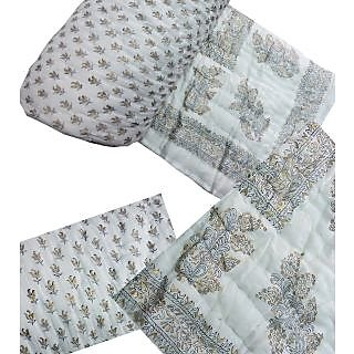 ruchiworld Jaipuri Double Bed Hand Block Print Cotton Razai
