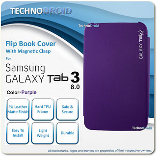 big sale 10e4c fb464 Samsung Galaxy Tab 3 8.0 P8200 / SM-T311 / SM-T311 Book Cover Case Flip  Purple