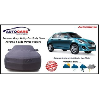 De AutoCare Premium Grey Matty Car Body Cover For Maruti Suzuki Swift Dezire New
