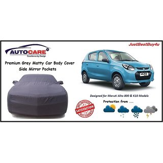 De AutoCare Premium Grey Matty Car Body Cover For Maruti Alto K10  800 Models