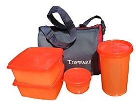 Lunch Box With Insulated Bag - 4 Pcs